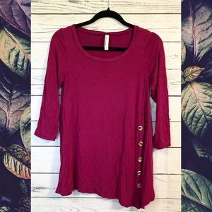Emerald 3/4 Sleeve Tunic